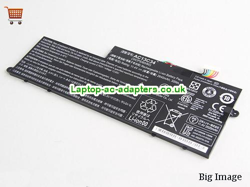 Genuine AC13C34 Acer Aspire V5V5-122 V5-132 V5-122P E3 E3-111 11.4VDC 2640mAh Li-ion Battery Pack KT.00303.005