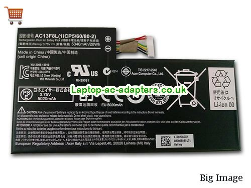 AC13F8L Tablet Battery for ACER Iconia Tab A1 A1-810 8GB 16GB Tablet