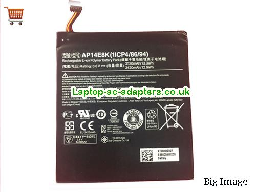 ACER AP14E8K AP14F8K Battery For Iconia One 7 B1-750