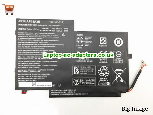 ACER AP15A3R Aspireswitch 10E SW3-013P Laptop Battery 30Wh