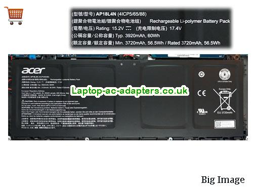 Genuine Acer AP18L4N Battery Rechargeable 4ICP5/65/88 Li-Polymer 60Wh 15.2v