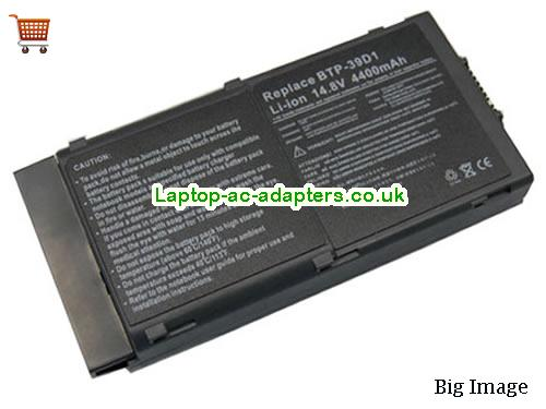 Acer BTP-39D1, BTP-620, Travelmate 620, 620, 621, 623, 632, 633, Travelmate 630 Series Replacement Laptop Battery 3920mAh