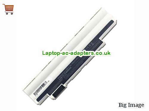 New Acer Aspire One D260 522 D255-1134 Replacement Laptop Battery AL10A13 AL10B31 White
