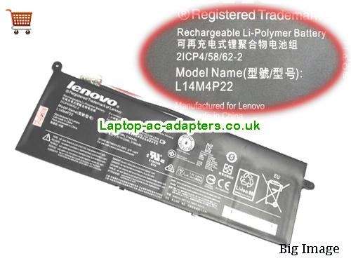 Genuine L14M4P22 Battery For S21e-20 Series Laptop