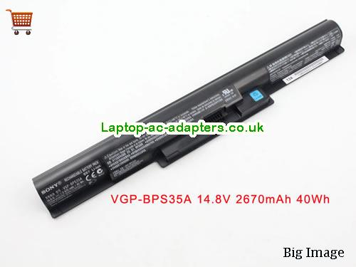 SONY VGP-BPS35A Battery 2670mAh, 40Wh