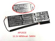 UK Battery for ACER AP13C3i 11.1v 4850mAh 54Wh Rechargeable Li-polymer Battery Pack