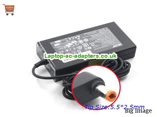 Discount Acer 135w Laptop Charger, Acer 135w Laptop Ac Adapter In Stock ACER19V7.1A135W-5.5x2.5mm-Slim