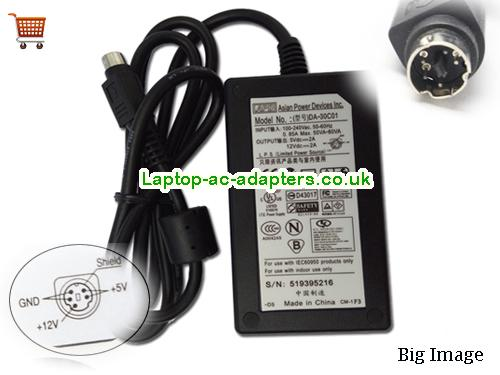 APD DA-30C01 Adapter 12V 2A 24W 5v 2A 5pin For HDD External Enclosure APD12V2A24W-5pin