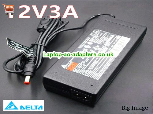 Discount Delta 12v AC Adapter, Delta 12v Laptop Ac Adapter In Stock DELTA12V3A36W-5.5x2.1mm