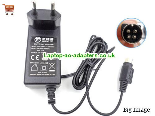 Eu ADS-25FSG-12 12018GPG Ac Adapter Hoioto 12V 1.5A power supply 4pin HOIOTO12V1.5A18W-4pin-EU