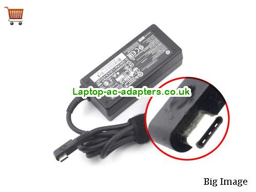 HP USB-TYPE-C Adapter, HP USB-TYPE-C AC Adapter, Power Supply, HP USB-TYPE-C Laptop Charger