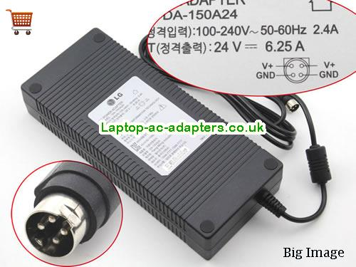 Discount LG 24V  6.25A  Laptop AC Adapter, low price LG 24V  6.25A  laptop charger