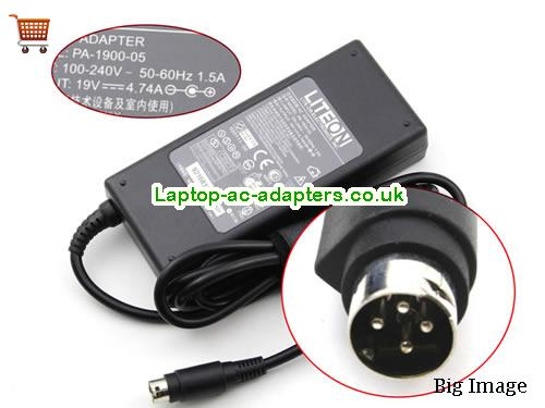 Discount Liteon 90w Laptop Charger, Liteon 90w Laptop Ac Adapter In Stock LITEON19V4.74A90W-4PIN
