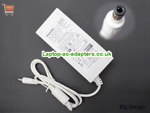 White ADPC1925EX AC Adapter For AOC PHilips Monitor PHILIPS19V1.31A25W-5.5x2.5mm-W