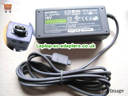 Discount Sony 16v AC Adapter, Sony 16v Laptop Ac Adapter In Stock SONY16V2.5A40W-2PIN
