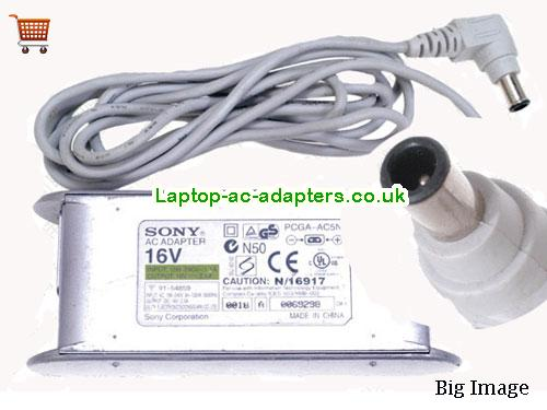 Discount Sony 16v AC Adapter, Sony 16v Laptop Ac Adapter In Stock SONY16V2.5A40W-6.5x4.0mm-W