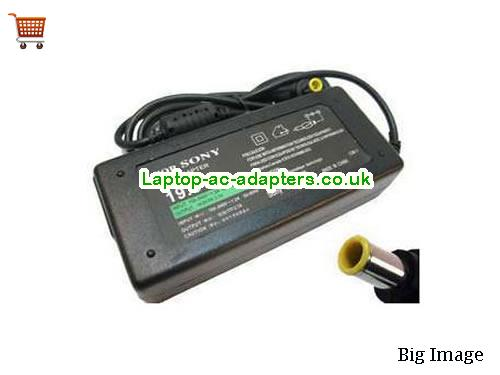 SONY VGP-AC19V12 Adapter, SONY VGP-AC19V12 AC Adapter, Power Supply, SONY VGP-AC19V12 Laptop Charger