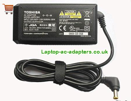 Discount Toshiba 24w Laptop Charger, Toshiba 24w Laptop Ac Adapter In Stock TOSHIBA12V2A24W-5.5x3.0mm