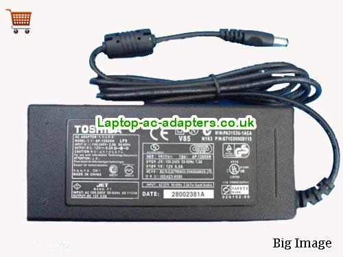 Discount Toshiba 12v AC Adapter, Toshiba 12v Laptop Ac Adapter In Stock TOSHIBA12V6A72W-5.5x2.5mm
