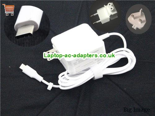 Universal A450C Ac adapter 20v 2.25A,15V 3A, 14.5V 2A, 9V 3A,5V 3A Type C tip for Apple A1534 A1540 UN20V2.25A45W-Type-C-A450C-W