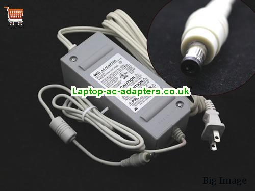 Wii AC Adapter RVL-020 12V 5.15A 62W Class 2 Power Supply E1246654J04  WII12V5.15A62W-5.5x2.5mm-US-G