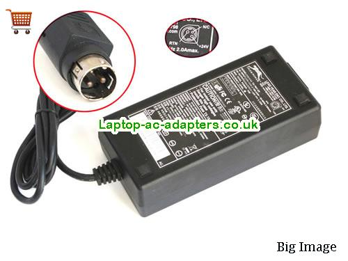 Genuine Tiger ADP-7501 TG-7601-ES Year 24V 3.125A 75W 3Pin Ticket Printer Adapter YEAR24V3.125A75W-3pin