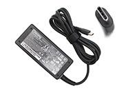 Chicony 20V 2.25A AC Adapter, Laptop Charger, 45W Laptop Power Supply, Plug Size
