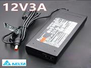 DELTA 12V 3A AC Adapter, Laptop Charger, 36W Laptop Power Supply, Plug Size 5.5 x 2.1mm