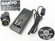 SANYO 12V 5A AC Adapter, Laptop Charger, 60W Laptop Power Supply, Plug Size
