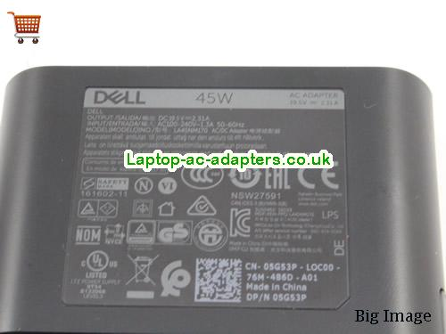 image 4 for  Portable Dell LA45NM170 Ac Adapter 7.4x5.0mm Tip For LATITUDE XT Series