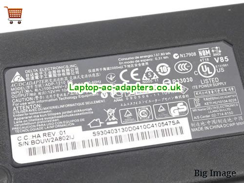 image 3 for  NEW DELTA ADP-1210 BB 12V 10A 120W Power Supply Adapter