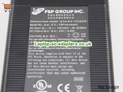 image 4 for  FSP FSP150-AAAN1 AC Adapter 24V 6.25A 150W Power Supply