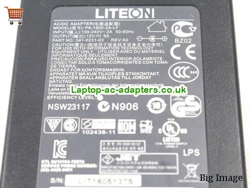 image 3 for  Liteon Laptop AC Adapter 12V 5A 60W  LITEON12V5A60W-5.5x2.5mm