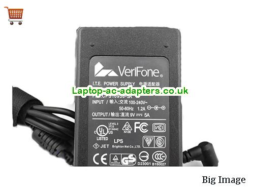 image 2 for  I.T.E Power Supply UP036C509 CPS10936-5A VERIFONE 9V 5A 45W Ac Adapter