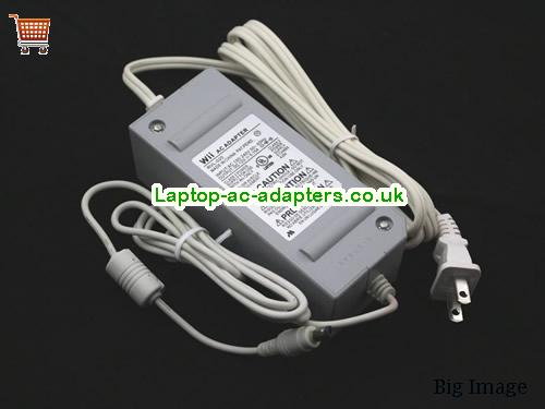 image 1 for  Wii AC Adapter RVL-020 12V 5.15A 62W Class 2 Power Supply E1246654J04